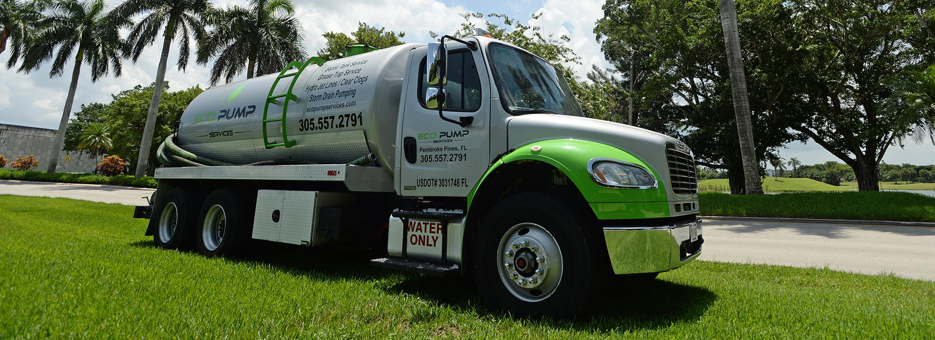 Eco Pumping Services truck
